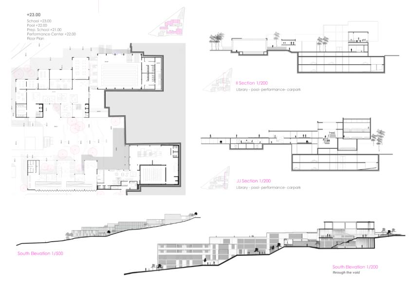 Cebeci School Project Plans and Sections Co.cius Ersan ilktan